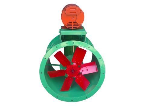Extractor de aire Tubo Axial con Transmisión a Poleas y Bandas